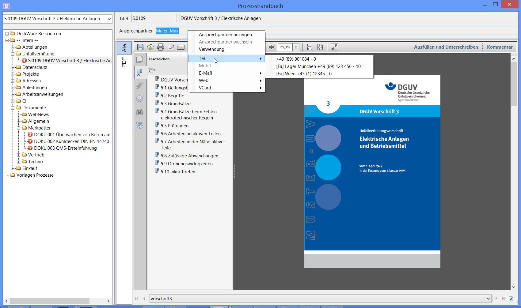 Prozesshandbuch - Vertragsmanagement - DeskWare Products GmbH